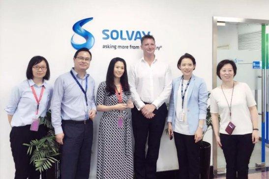 汉瑞普泽喜获SOLVAY集团亚太区唯一CSR最佳进步奖