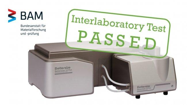 丹东百特Bettersize3000Plus激光粒度仪通过国际实验室比对测试