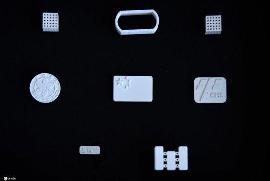 中科院太空制造团队展示新飞船在轨立体光刻3D打印样品
