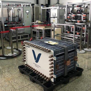 大连化物所研发出新一代低成本、高功率密度全钒液流电池电堆