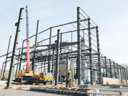武乡县蟠洪工业园区年产10万吨纳米碳酸钙项目正加紧建设