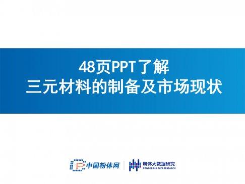 48页PPT了解三元材料的制备及市场现状