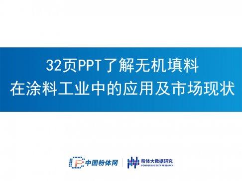 32页PPT了解无机填料在涂料工业中的应用及市场现状