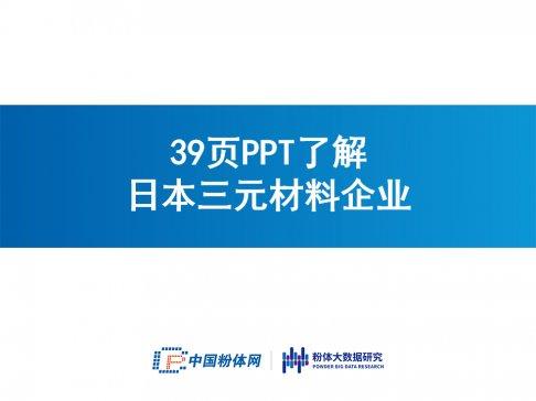 39页PPT了解日本三元材料企业