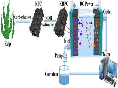 固体所在电容去离子技术同步去除水中四环素和硬度离子方面取得进展