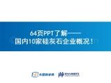 64页PPT了解——国内10家硅灰石企业概况