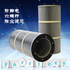 防静电除尘滤芯六螺杆吊装式滤筒 工业过滤的图片