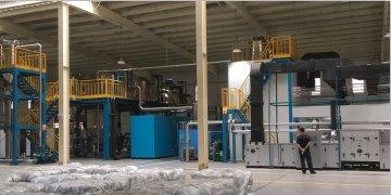 磷酸铁锂粉碎/烘干/包装/输送一体生产线的图片