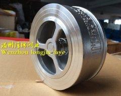 不锈钢H71W-16P对夹式止回阀