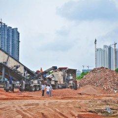 移动破碎站 石料生产线移动式破碎机  矿山机械的图片