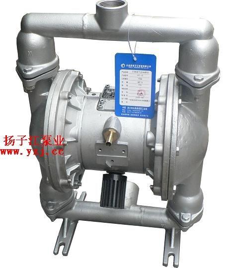 粉体输送泵-隔膜泵:qby型不锈钢气动隔膜泵图片