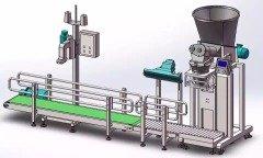 人工辅助大袋粉剂粉末产品自动计量装袋包装机