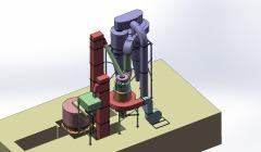瀑流式磨粉机 矿石磨粉机