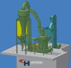 HCQ1290小型雷蒙磨粉机无尘粉碎机矿山机械的图片