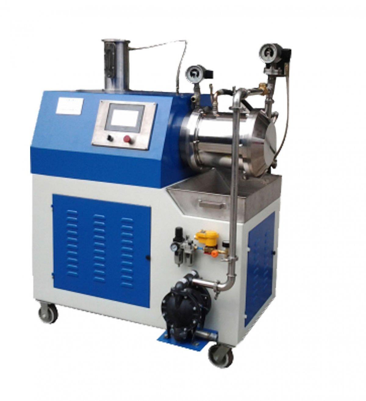油漆涂料油墨纳米材料专用涡轮砂磨机的图片