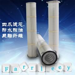 防水防油四爪法兰滤筒工业除尘滤芯的图片